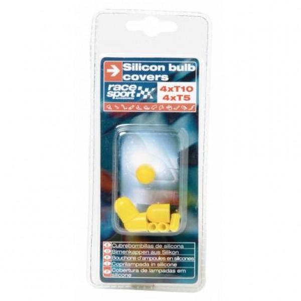 Cubrebombillas silicona, 4 x t10, 4 x t5 amarillo
