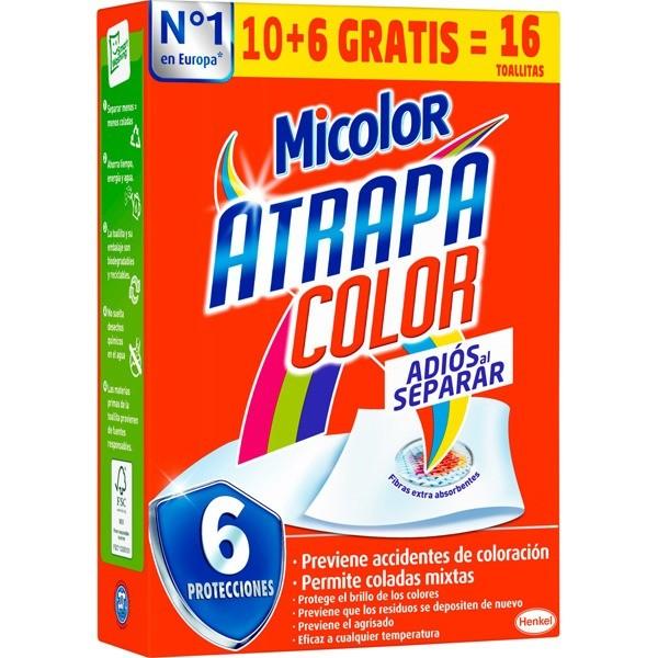 Micolor Toallitas atrapacolor 10+6 gratis