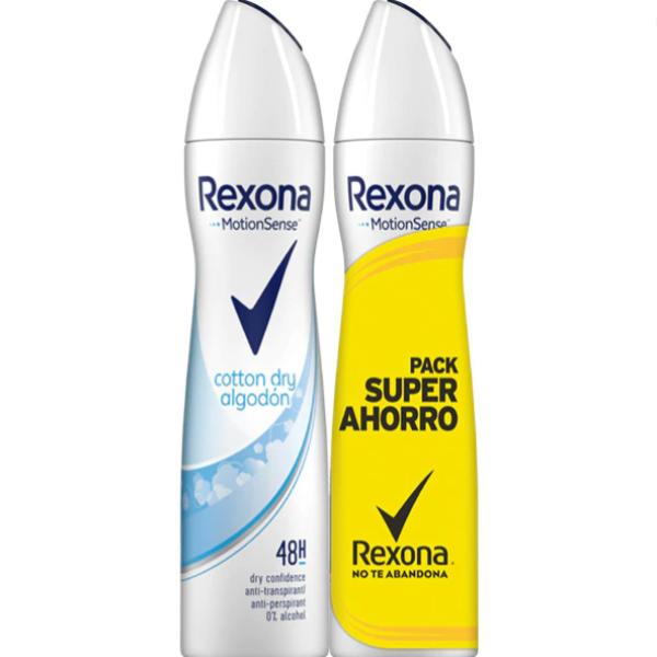 Rexona desodorante Spray Cotton Dry 200 ml + 200 ml PACK AHORRO
