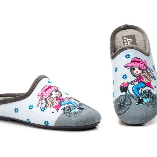 830 Gris - Zapatillas Mujer Gris Bicicleta