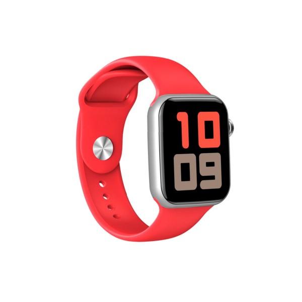 Dcu colorful bluetooth smartwatch blanco + rojo